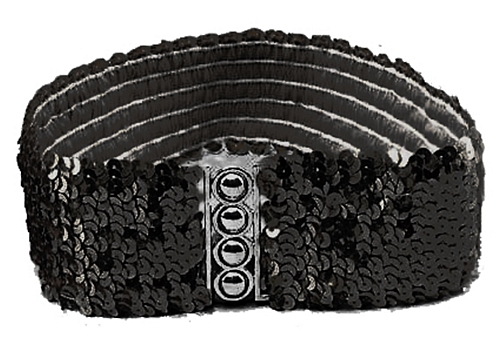 Sequin Belt Black