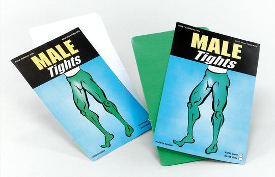 Male Tights. White Thumbnail 1