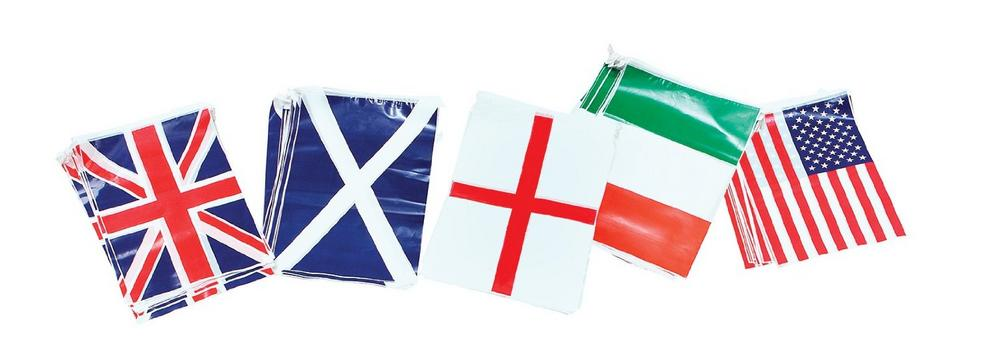Bunting. Scotland 7m, 25 Flags