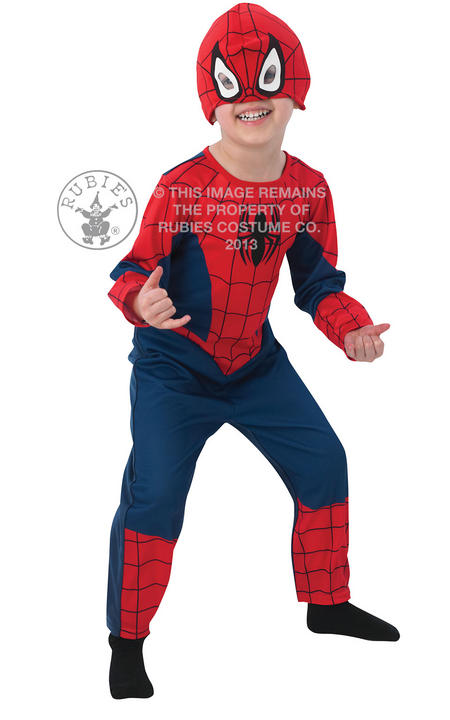 Kids Ultimate Spider Man Classic Costume Thumbnail 1
