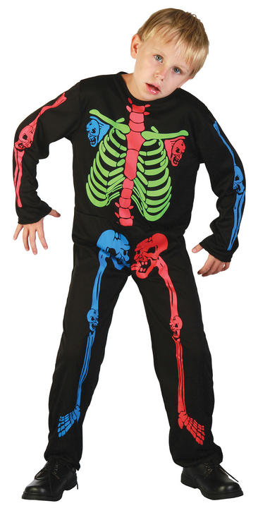 Skeleton Boy  Multi Colour Costume Thumbnail 1