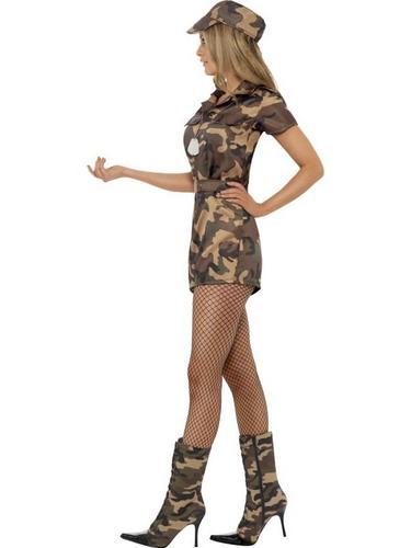 Sexy Army Lady Fancy Dress Costume Thumbnail 3