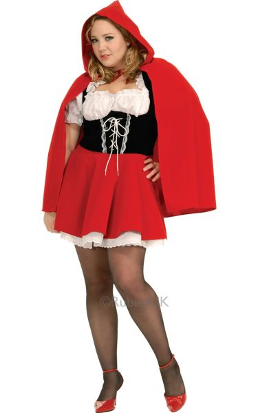New Adult Sexy Plus Size Red Riding Hood Ladies Fancy Dress Costume