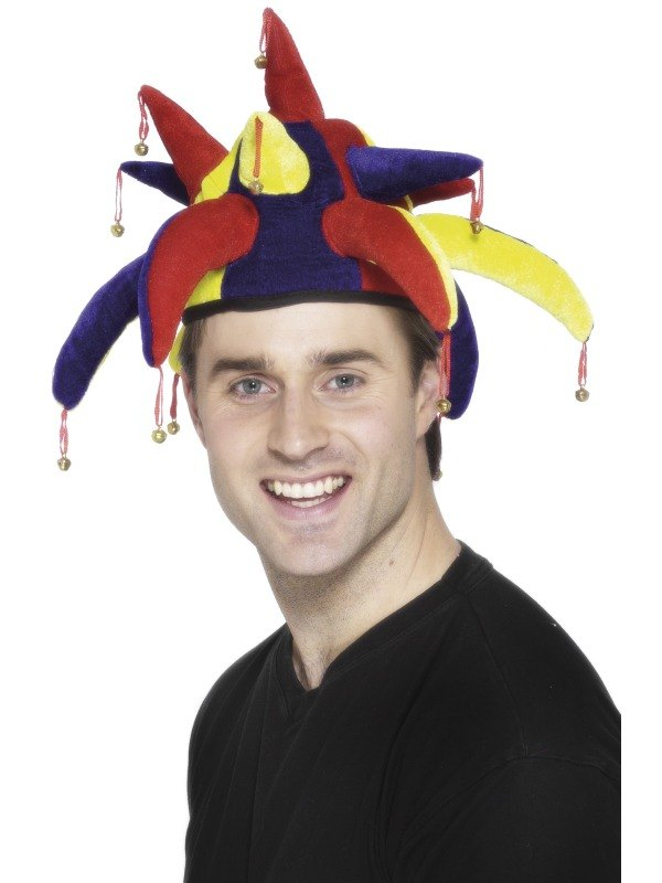 Jester Fancy Dress Hat  sc 1 st  Wonderland Party & SALE! Adult Funny Jester Hat With Bells Fancy Dress Costume Party ...