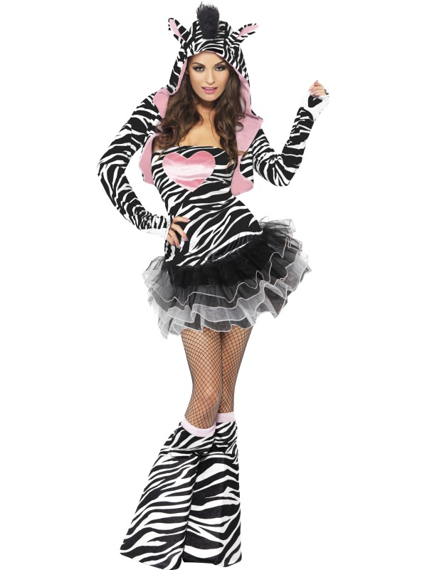 Fever Zebra Costume  sc 1 st  Wonderland Party & SALE Adult Sexy Animal Fever Zebra Ladies Fancy Dress Hen Party ...