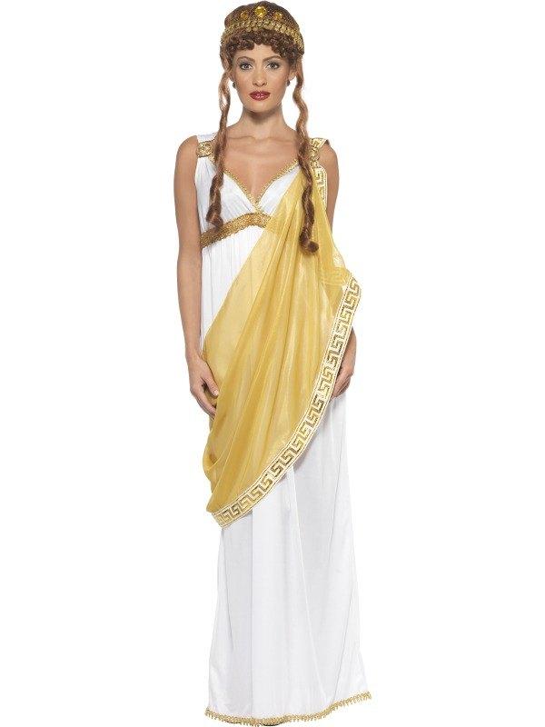 Adult Helen Troy Goddess Roman Greek Ladies Toga Fancy Dress Hen ...