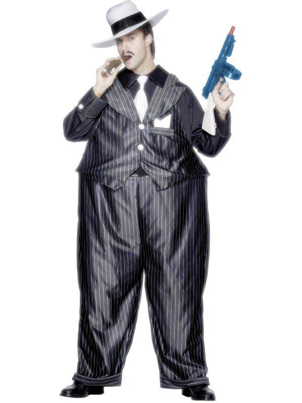 Sale Adult 20s Fat Cat Gangster Zoot Suit Mens Fancy Dress Party