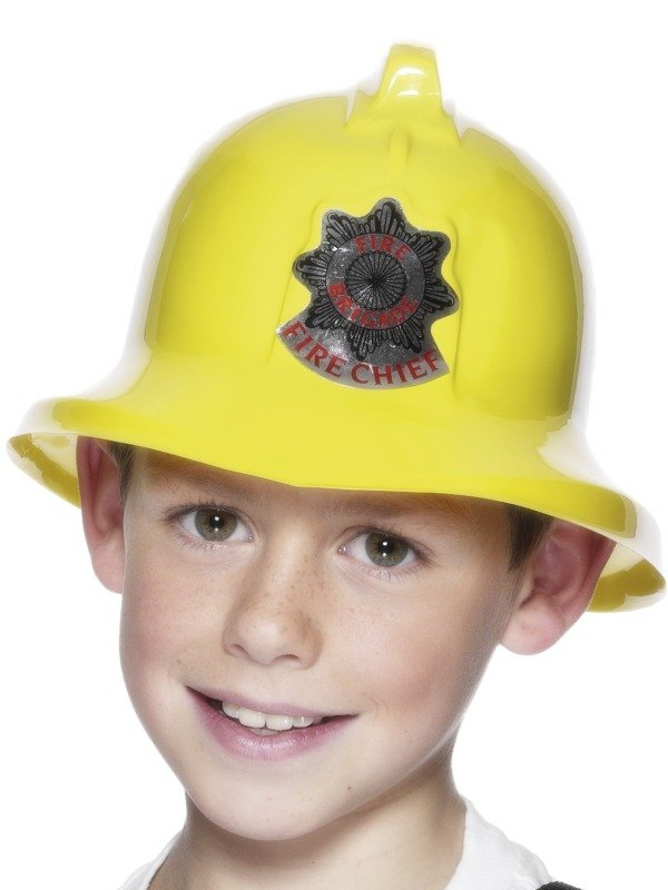 Kids Fireman Firefighter Helmet Hat Girls Boys Fancy Dress Costume