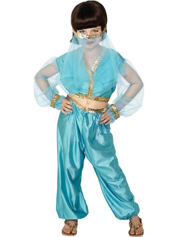 Arabian Princess Fancy Dress Costume  sc 1 st  Wonderland Party & Genie Girls Book Week Fancy Dress Costume Outfit///Kids Arabian ...