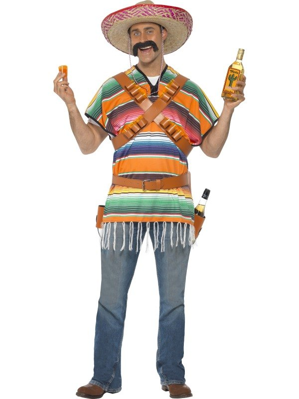 SALE! Adult Mexican Tequila Shooter Mens Fancy Dress Stag Party ...