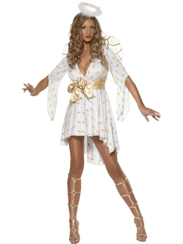 Angel Fancy Dress Costume - SALE! Adult Sexy Christmas Angel Ladies Fancy Dress Costume Xmas