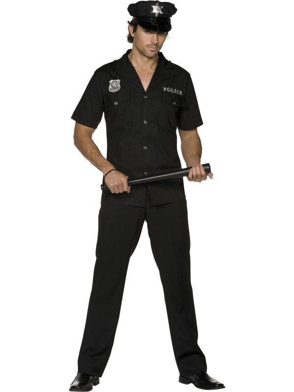 Cop Fancy Dress Costume  sc 1 st  Wonderland Party & Adult Sexy Police Officer Cop Uniform Mens Fancy Dress Stag Party ...