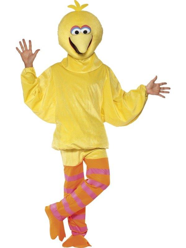 Sesame Street Big Bird Fancy Dress Costume  sc 1 st  Wonderland Party & Funny Adult Sesame Street BIG BIRD Mascot Costume Fancy Dress ...