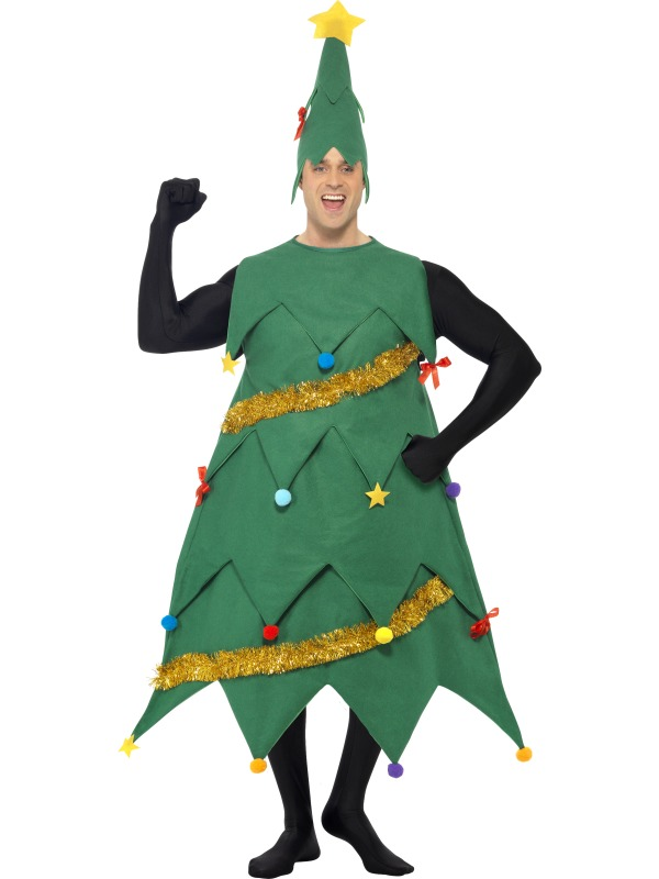 Adult Deluxe Funny Christmas Tree Mens Fancy Dress Xmas Party ...