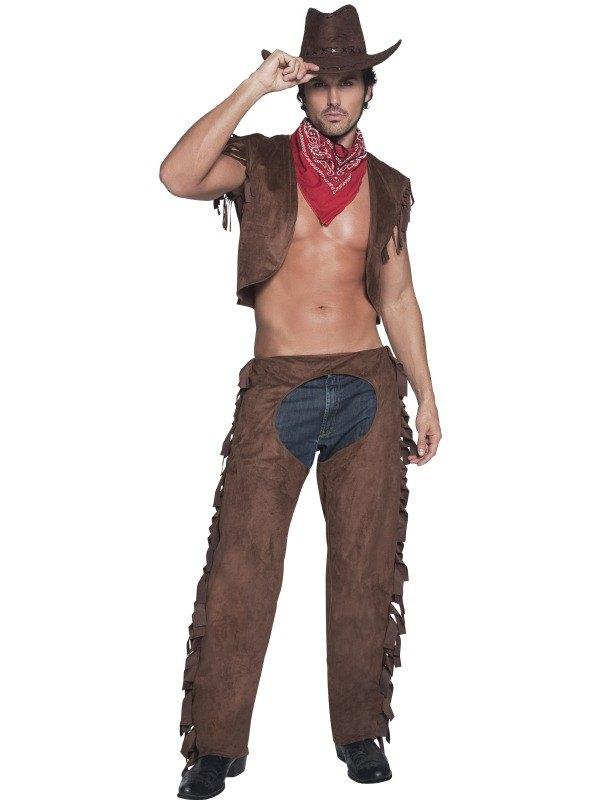 Ride Em High Cowboy Fancy Dress Costume  sc 1 st  Wonderland Party & Adult Sexy Western Wild West Ride Em High Cowboy Mens Fancy Dress ...