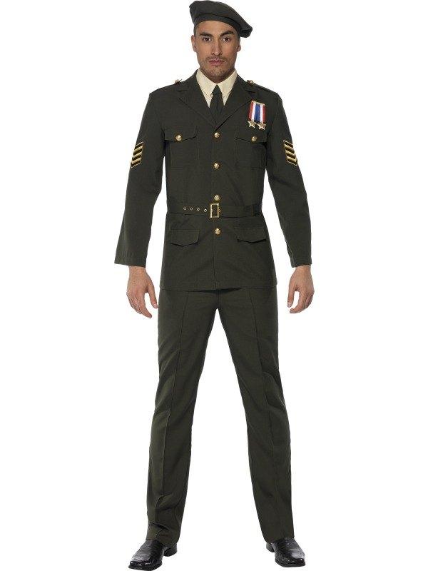 Male Wartime Officer Fancy Dress Costume
