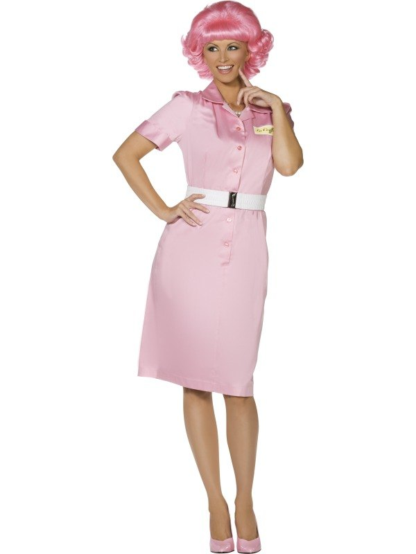 Adult 50s Grease Pink Ladies Frenchy Ladies Fancy Dress Hen Party Costume Outfit   eBay