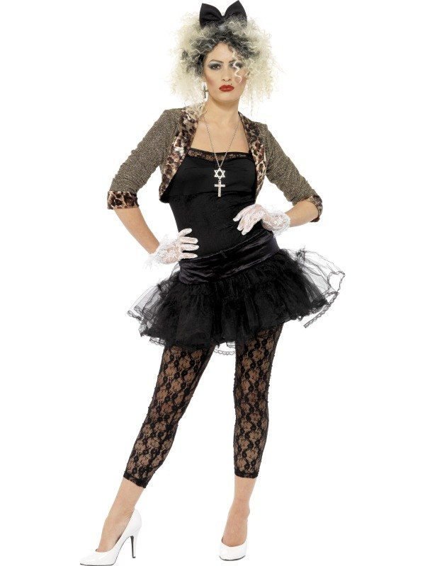 80s Wild Child Fancy Dress Costume  sc 1 st  Wonderland Party & Adult 80s Pop Star Wild Child (Madonna Style) Ladies Fancy Dress ...