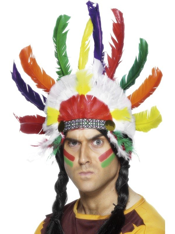 Sitting Bull Indian Headdress  sc 1 st  Wonderland Party : indian feather headdress costume  - Germanpascual.Com