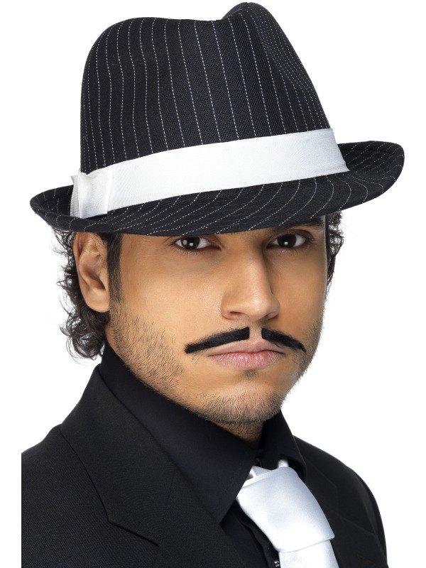SALE! 1920s Gangster Pin Striped Trilby Hat Fancy Dress Costume ... 2f1038ea028