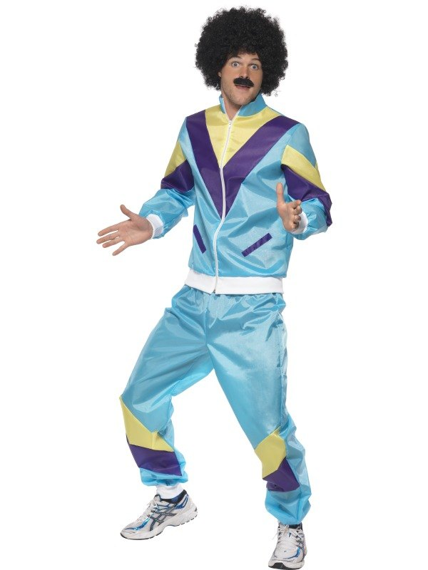 SALE Funny 80s 90s Scouser Shell Suit Mens Fancy Dress Stag Party Costume Outfit  sc 1 st  Wonderland Party & SALE Funny 80s 90s Scouser Shell Suit Mens Fancy Dress Stag Party ...