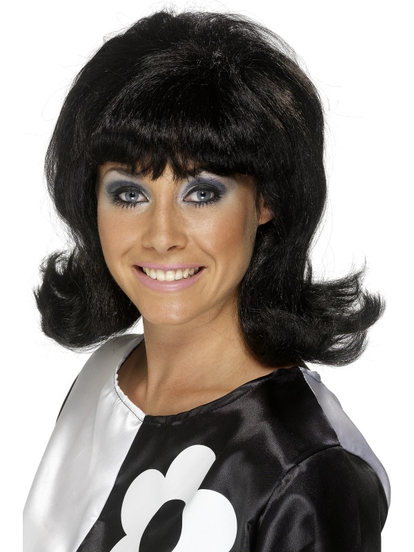 Sale! Adult 60 s Flick-Up Wig Short Black Ladies Fancy Dress Costume ... a4fae5b532f3