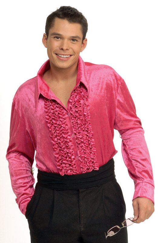 Adult 70s Velvet Disco Dancer Shirt Mens Fancy Dress Stag Party ...