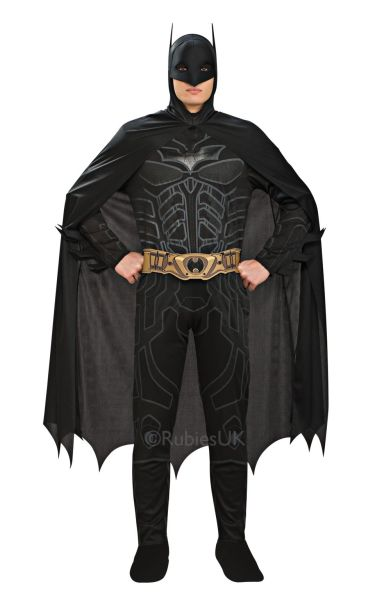 Batman Fancy Dress Costume  sc 1 st  Wonderland Party & New Adult Licensed Batman Dark Knight Mens Fancy Dress Stag Party ...