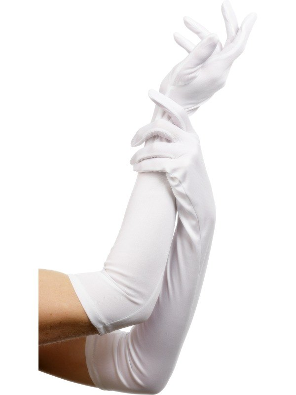 Long Gloves White  sc 1 st  Wonderland Party & SALE! Sexy Long White Gloves Ladies Fancy Dress Costume Party Accessory