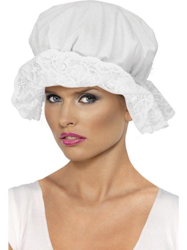 Mop Cap  sc 1 st  Wonderland Party & SALE Adult Victorian Maid Mop Cap Hat Ladies Fancy Dress Costume ...