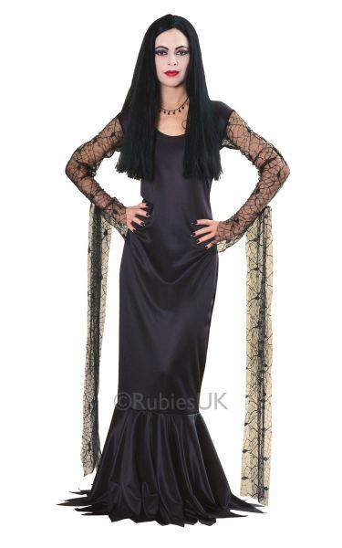 Morticia Fancy Dress Costume