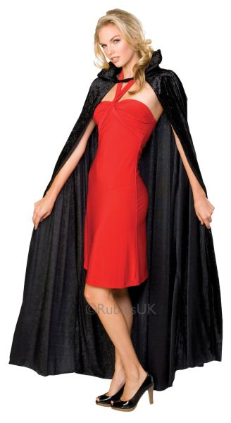 Long crushed velvet Cape