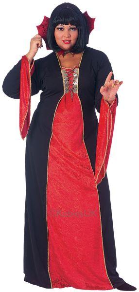 Gothic Vampiress Fancy Dress Costume