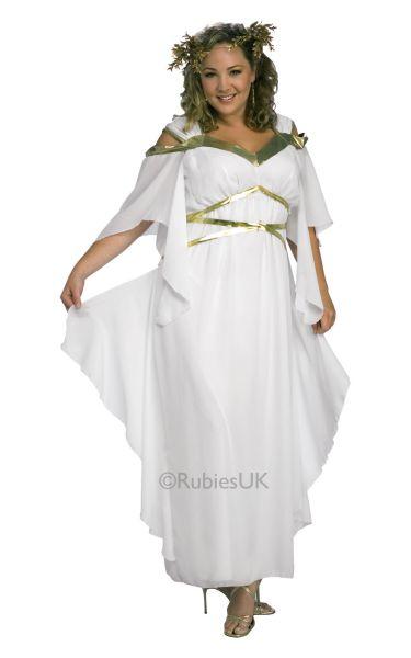 Plus Size Roman Goddess Fancy Dress Costume