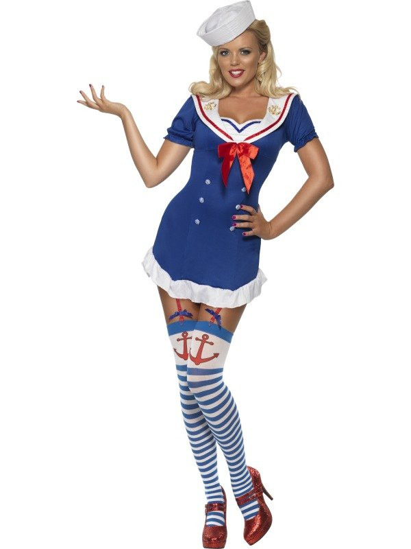 Pin Up Ahoy Sailor Fancy Dress Costume