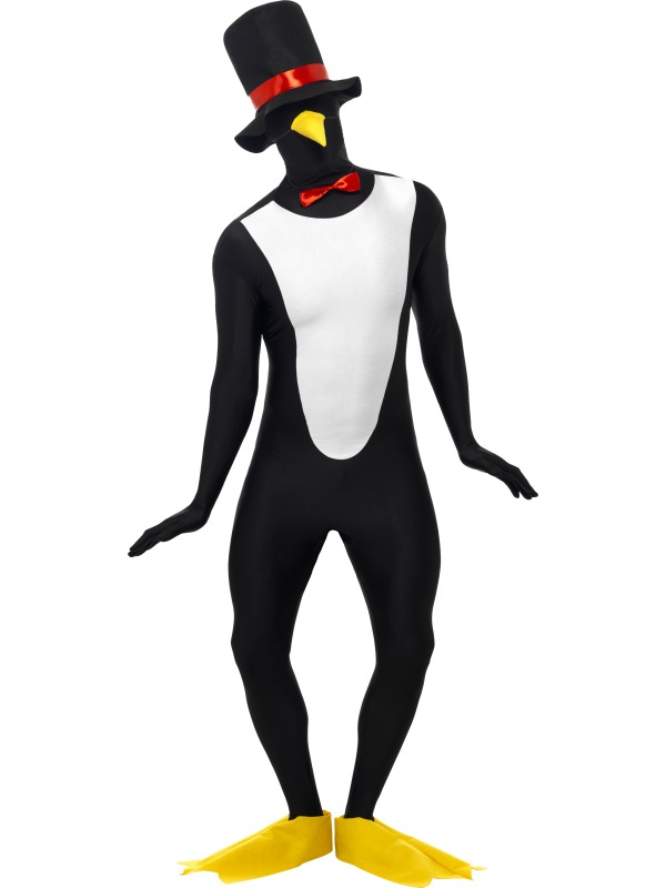 Penguin Second Skin Fancy Dress Costume