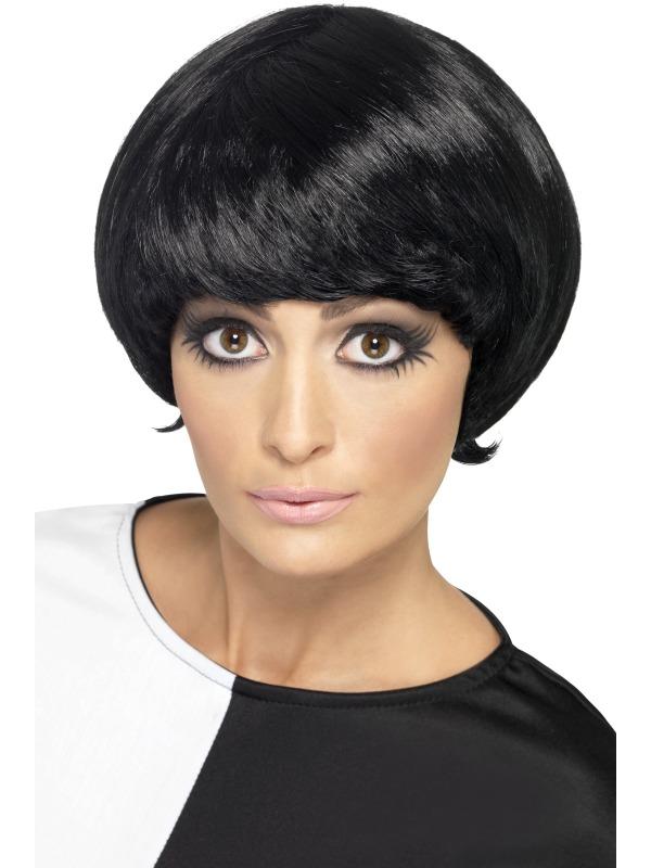 60's Psychedelic Wig Black