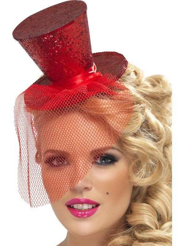 Red Mini Top Fancy Dress Hat