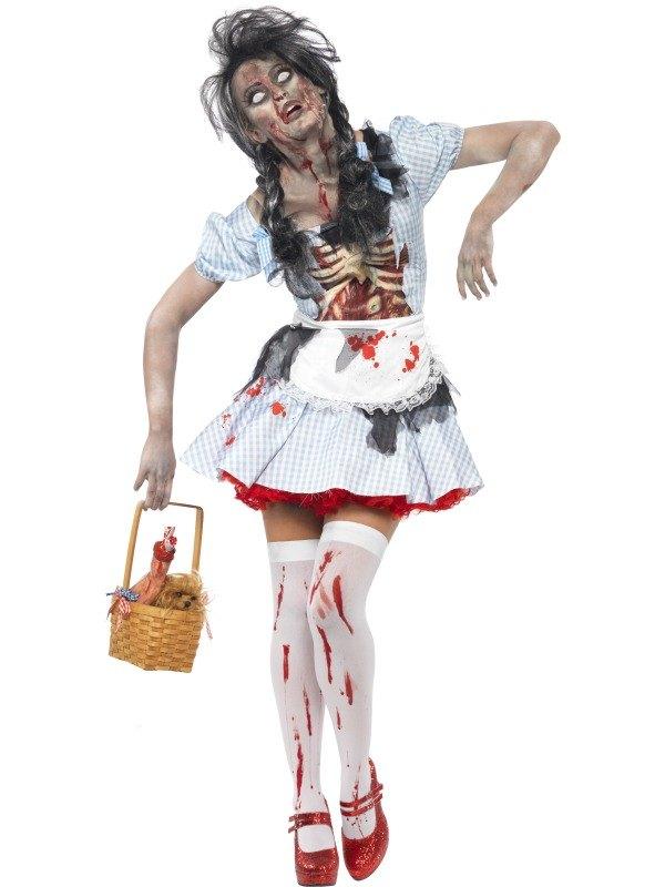 Horror Zombie Dorothy Fancy Dress Costume