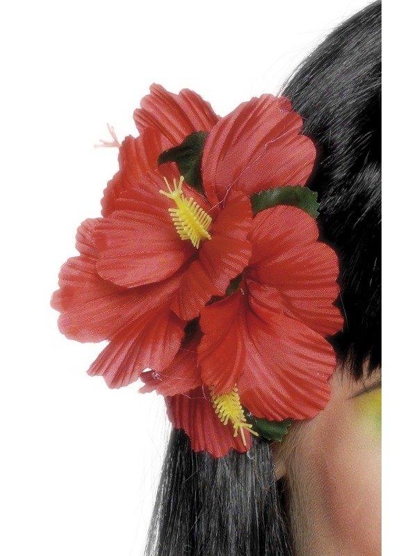 Hawaiian Flower Clip Red