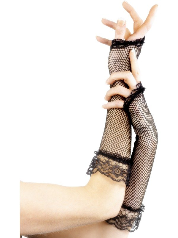 Fingerless Gloves   Black