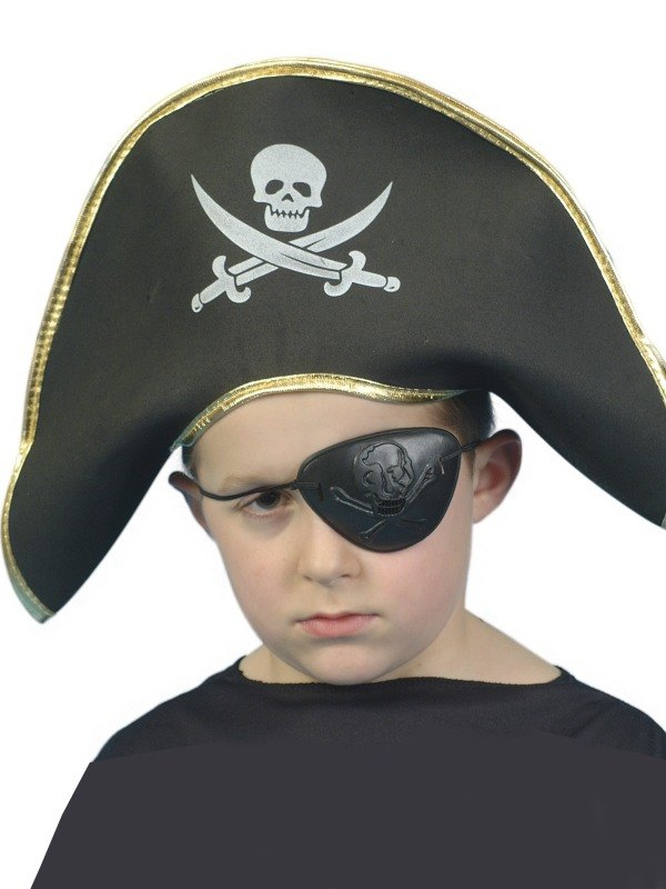 Childs Pirate Captain Fancy Dress Hat EVA