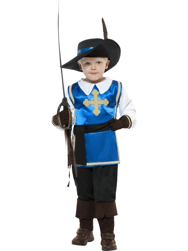 Musketeer Child Fancy Dress Costume