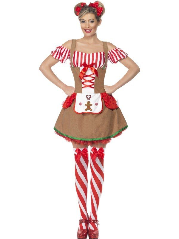 Gingerbread Woman Fancy Dress Costume