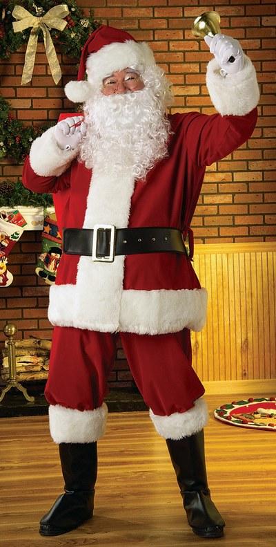 Plush Santa Suit Fancy Dress Costume