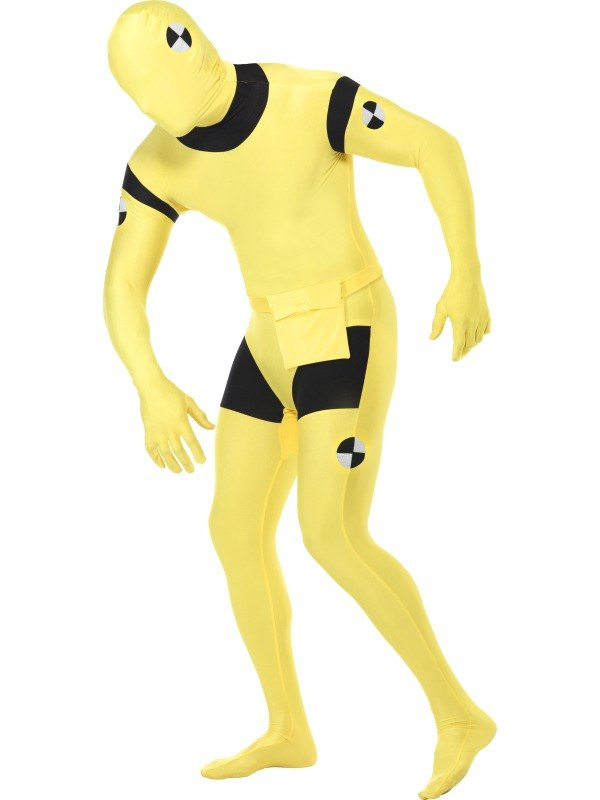 Second Skin Suit, Crash Dummy Fancy Dress Costume