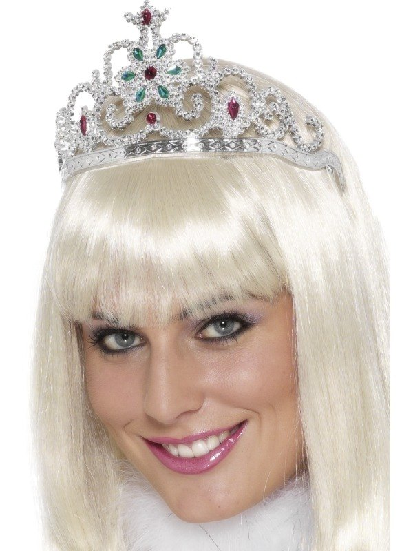 Adult Ladies Princess Tiara with Jewels Fancy Dress Costume Dress Up Accessory