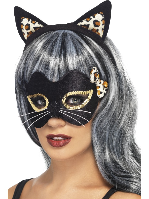 Midnight Kitty Eye Mask and Ear Set
