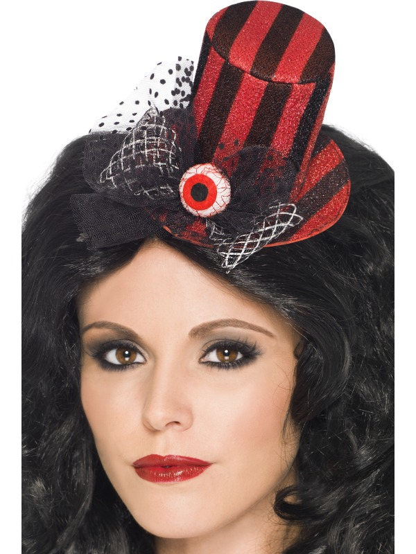 SALE! Evil Eye Mini Top Hat Ladies Halloween Fancy Dress Costume ... 486500d937e