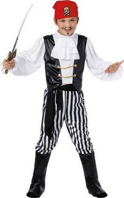 Boys Pirate Fancy Dress Costume